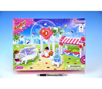 Stavebnice BanBao Svatební altán 328ks + 2 figurky v krabici 33x24x7cm + DOPRAVA ZDARMA