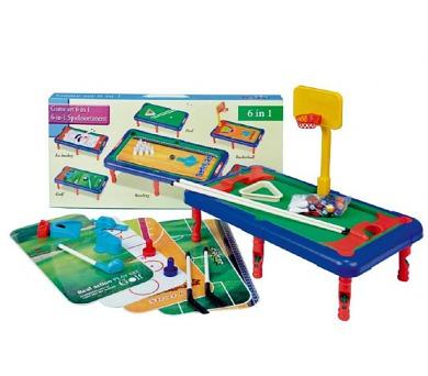 Hra 6v1 sportovní v krabici 55x26x6cm