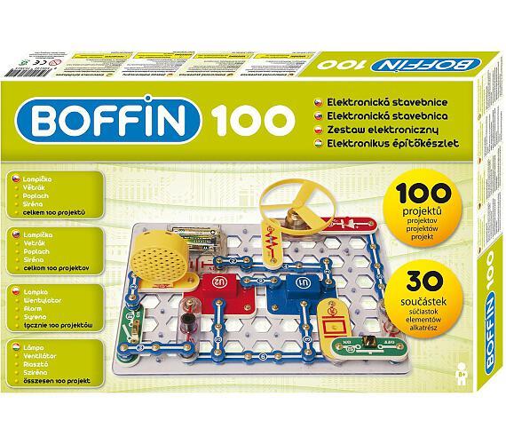 Stavebnice Boffin 100 elektronická 100 projektů na baterie 30ks v krabici 38x25x5cm