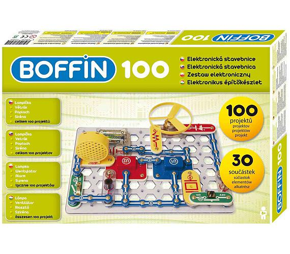 Stavebnice Boffin 100 elektronická 100 projektů na baterie 30ks v krabici + DOPRAVA ZDARMA