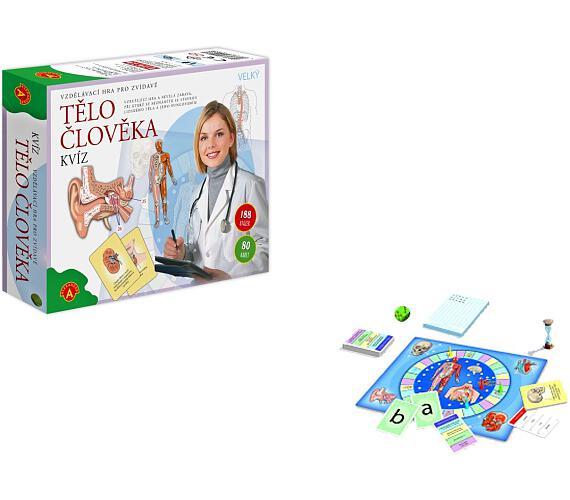 Tělo člověka kvíz společenská vzdělávací hra 30x25cm v krabici