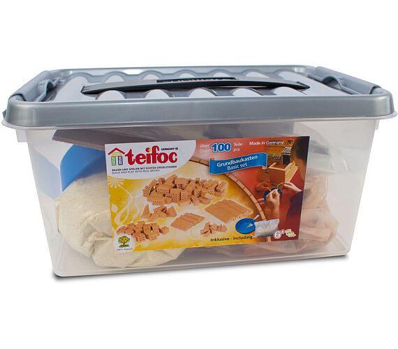 Směr Stavebnice Teifoc Startovací set 100ks 30x14x19cm v plastovém boxu