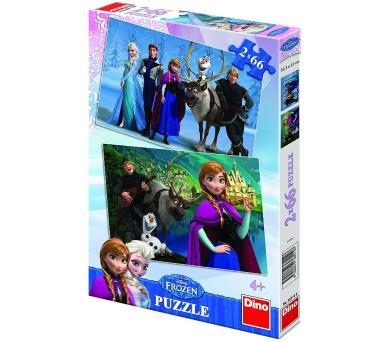 Puzzle Ledové království/Frozen 32,3x22cm 2x66 dílků v krabici 34x23x3,5cm