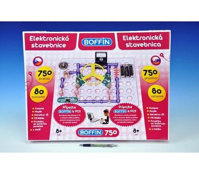 Stavebnice Boffin 750 elektronická 750 projektů na baterie 80ks v krabici 52x40x8cm