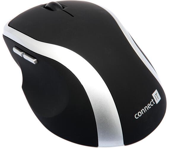 Myš Connect IT WM2200 / laserová / 5 tlačítek / 1000dpi - černá/stříbrná