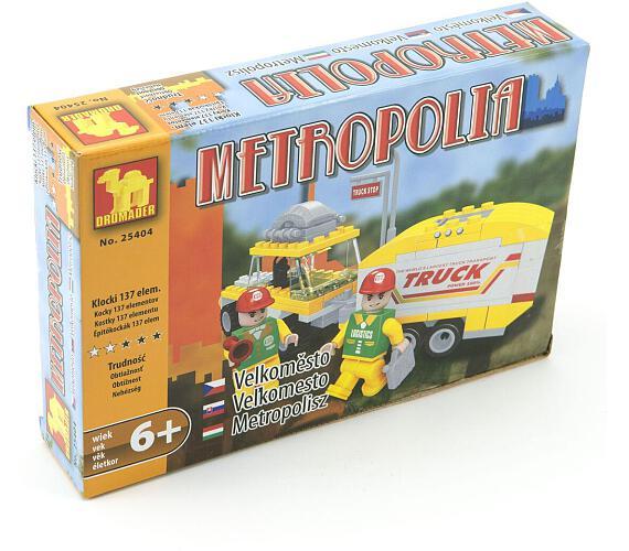 Stavebnice Dromader Auto + Vozík 25404 137ks v krabici 22x15x4,5cm