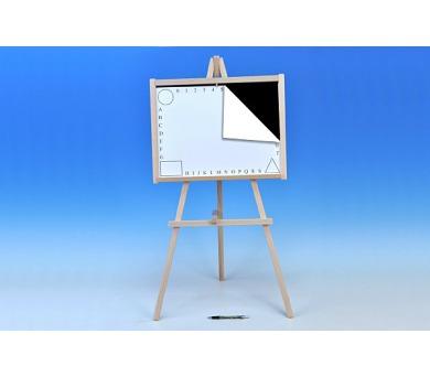Tabule školní dřevo 88x44cm i pro psaní na fólii v sáčku