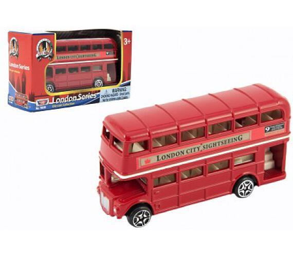 "Autobus ""Londýn"" červený patrový kov 10cm v krabičce"