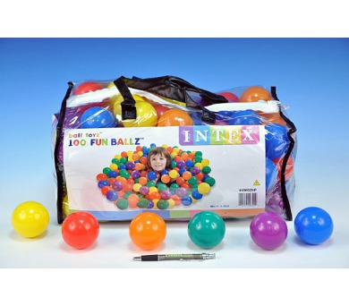 Míček/Míčky do hracích koutů 6,5cm barevný 100ks v plastové tašce 2+ + DOPRAVA ZDARMA