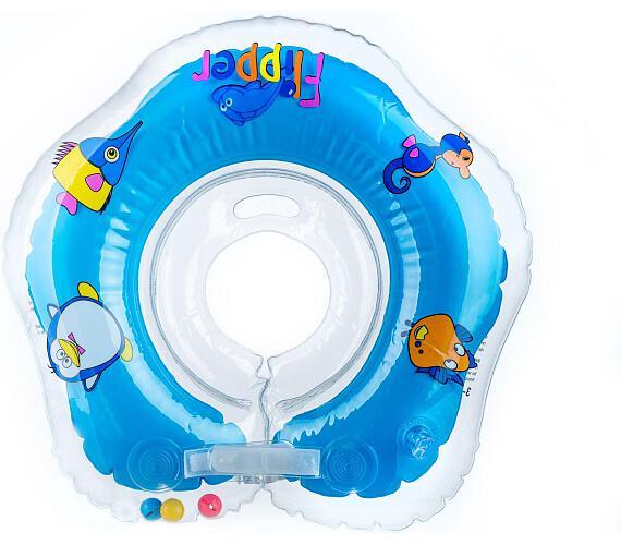 Plavací nákrčník Flipper/Kruh modrý v krabici 0+