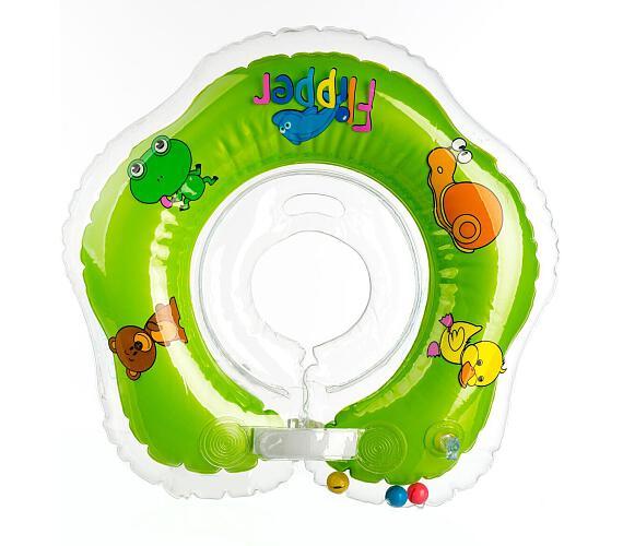 Plavací nákrčník Flipper/Kruh zelený v krabici 0m+