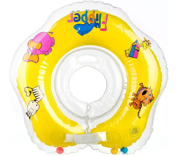 Plavací nákrčník Flipper/Kruh žlutý v krabici 0+