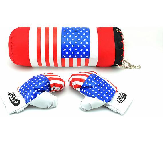 Boxovací pytel + rukavice v síťce 45x15cm + DOPRAVA ZDARMA