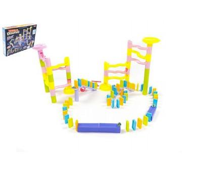 Kuličková dráha s dominem společenská hra 285ks v krabici + DOPRAVA ZDARMA