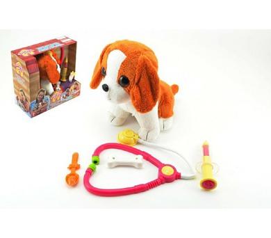 Pes štěňátko interaktivní nemocný plyš 22cm v krabici + DOPRAVA ZDARMA
