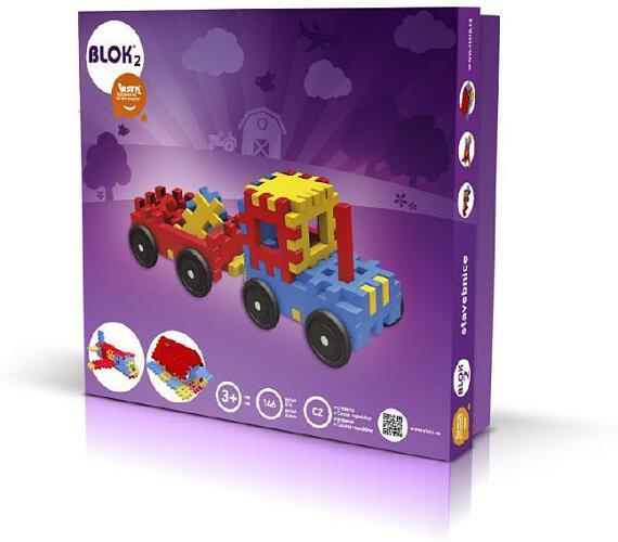 Stavebnice Blok 2 plast 146ks v krabici 35x33x8cm + DOPRAVA ZDARMA