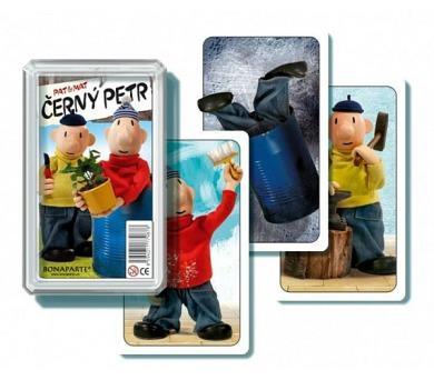 Černý Petr Pat a Mat společenská hra - karty v plastové krabičce