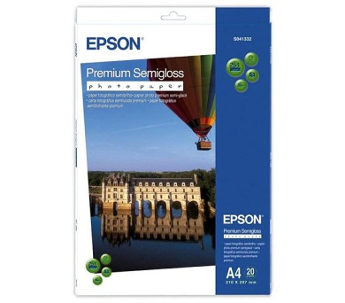 EPSON Paper A4 Premium Semigloss Photo (20 sheets) 251g/m2 (C13S041332)