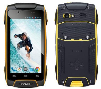 Evolveo StrongPhone Q8 LTE - černý/žlutý