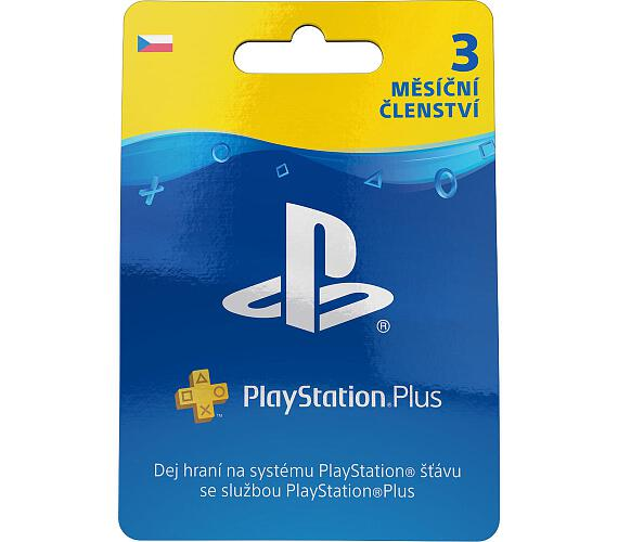 Sony PlayStation Plus Card 90 dní - pouze pro CZ PS Store