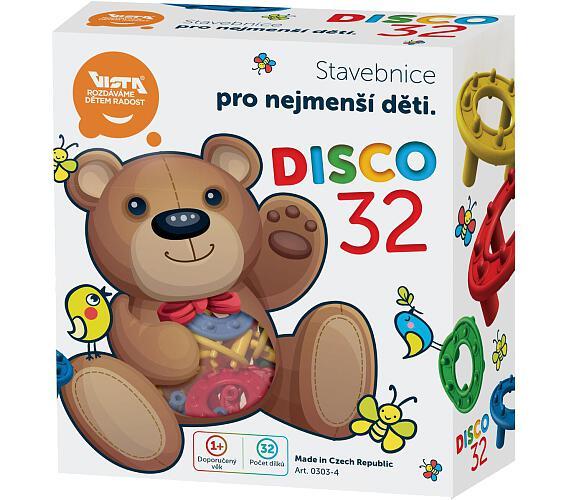 Stavebnice Disco 32ks plast v krabici 15x17cm