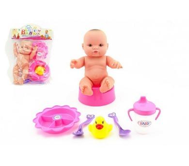 Panenka miminko s doplňky plast 22cm v sáčku