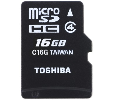 Toshiba MicroSDHC 16GB CL4 + adap.