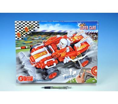 Stavebnice BanBao Auto RC na baterie 178ks + 1 figurka v krabici 37x29x6,5cm + DOPRAVA ZDARMA
