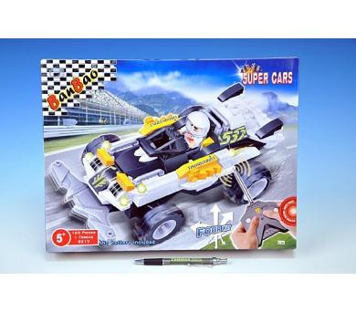 Stavebnice BanBao Auto RC na baterie 165ks + 1 figurka v krabici 37,5x28,5x6,5cm + DOPRAVA ZDARMA