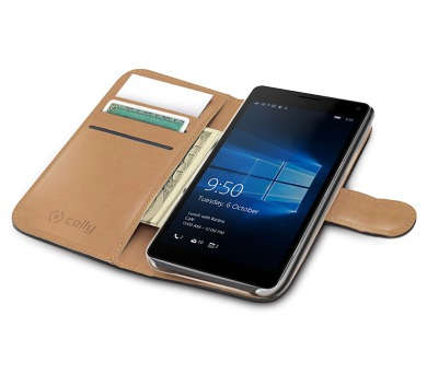 Celly WALLY pro Microsoft Lumia 950 XL - černé