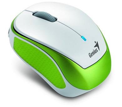 Genius Micro Traveler 9000R V2 / optická / 3 tlačítka / 1200dpi - bílá/zelená