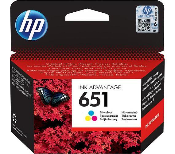 Inkoustová náplň HP 651