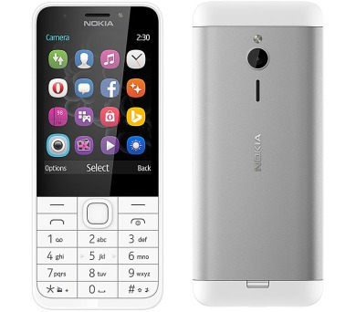 Nokia 230 Dual SIM - bílý
