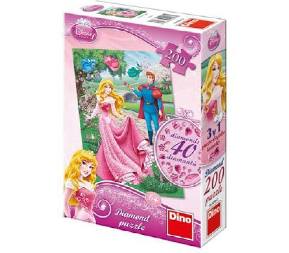 Puzzle Diamond Růženka 33x47cm + lepidlo + kamínky 200 dílků v krabici 18x27x6cm + DOPRAVA ZDARMA