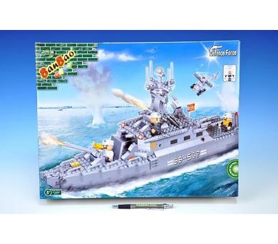 Stavebnice BanBao loď bitevní 458ks + 3 figurky v krabici 45x35x7cm + DOPRAVA ZDARMA