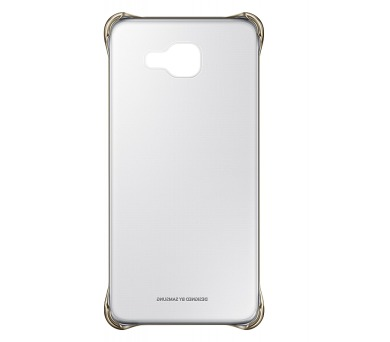 Samsung Clear Cover pro Galaxy A3 2016 - zlatý