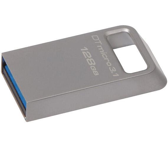 Kingston DataTraveler Micro 128GB USB 3.1 USB 3.0 - stříbrný + DOPRAVA ZDARMA