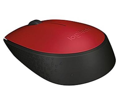 Logitech Wireless Mouse M171 / optická / 2 tlačítka / 1000dpi - červená