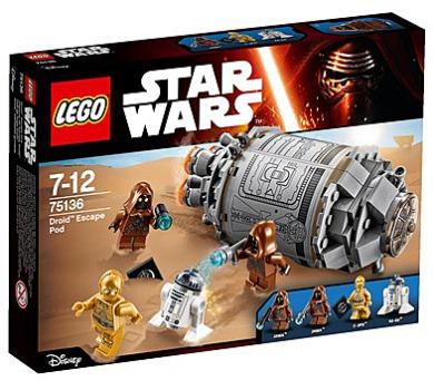 Stavebnice Lego® Star Wars TM 75136 Droid™ Escape Pod (Únikový modul pro droidy) + DOPRAVA ZDARMA