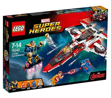 Stavebnice LEGO® SUPER HEROES 76049 Vesmírná mise Avenjet