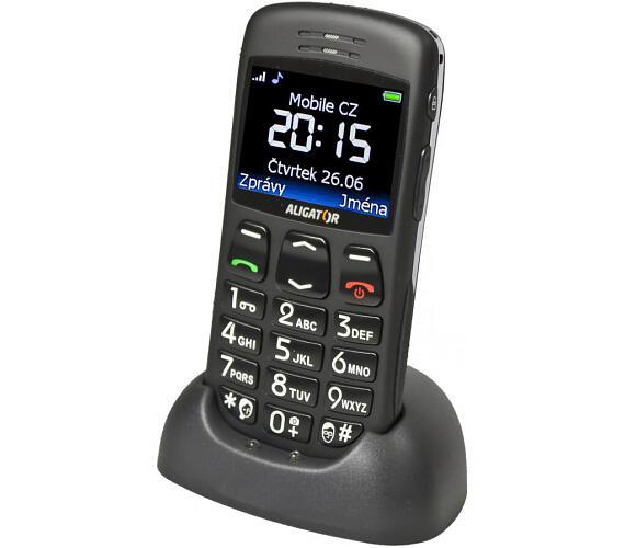 Mobilní telefon Aligator A670 Senior - černý