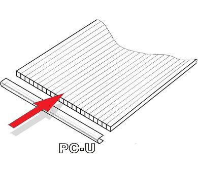 PC U-profily 4 mm pro skleník Lanit Plast VITAVIA CALYPSO 7300