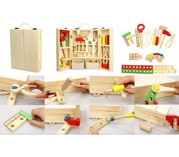 Nářadí dřevo 30ks v dřevěném kufříku 31,5x20,4x7,7cm + DOPRAVA ZDARMA