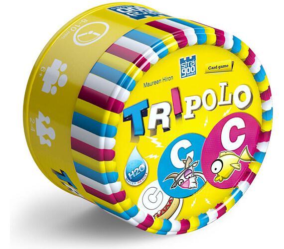 Tripolo společenská hra v plechové krabičce 8x5x8cm