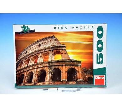 Puzzle Západ slunce nad Koloseem 500dílků 47x33cm v krabici