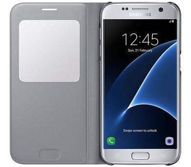 Samsung S-View pro Galaxy S7 (EF-CG930P) - stříbrné