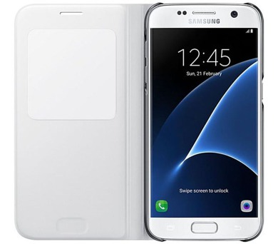 Samsung S-View pro Galaxy S7 (EF-CG930P) - bílé + DOPRAVA ZDARMA