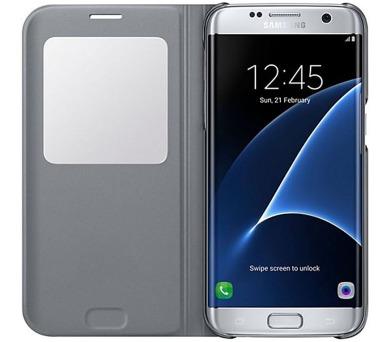 Samsung S-View pro Galaxy S7 Edge (EF-CG935P) - stříbrné + DOPRAVA ZDARMA