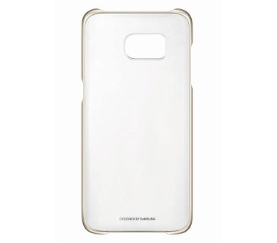 Samsung Clear Cover pro Galaxy S7 Edge (G935) - zlatý