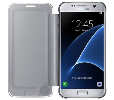 Samsung Clear View pro Galaxy S7 (EF-ZG930C) - stříbrné + DOPRAVA ZDARMA